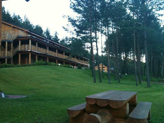 IDW Esperanza Resort: Hotel is made of canadian cedar logs