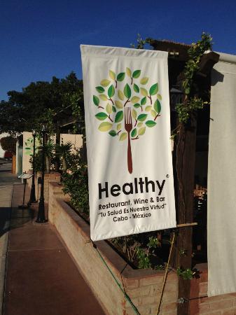 Healthy Restaurant & Wine Bar: Restaurant Sign