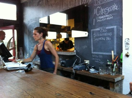 Lokal Restaurant: Rustic Interior with an added bit of whimsey - chalk board walls!