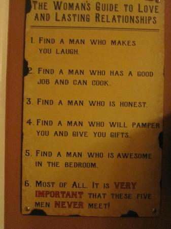True Grit Cafe: Sign in the Ladies room - LOL!