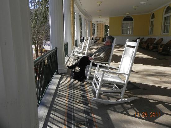 West Baden Springs Hotel: porch