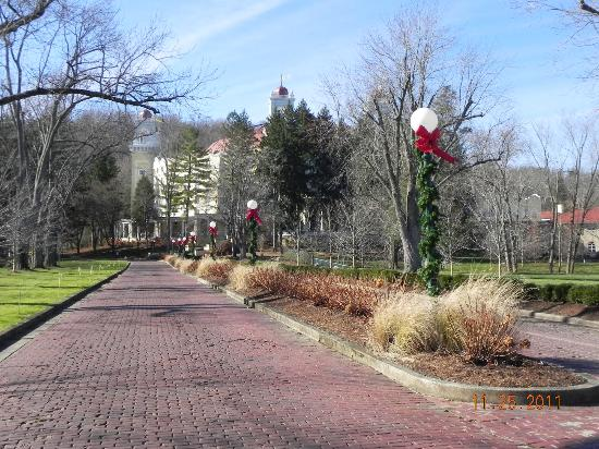 West Baden Springs Hotel: From access road