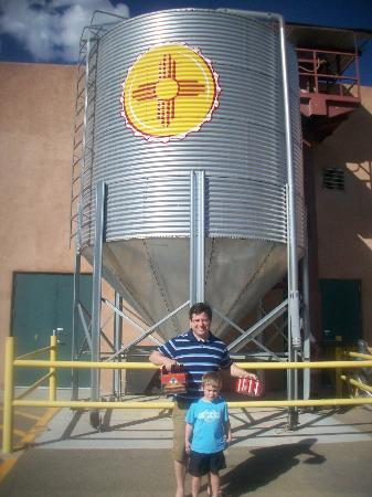 Santa Fe Brewing Company: On the way out...happy.