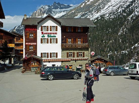 Das Hotel du Glacier in Arolla.