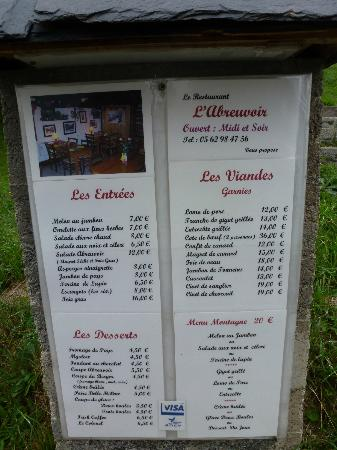 Saint-Lary Soulan, France : price list