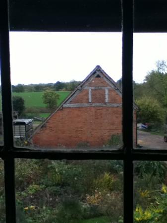Shrewley Pools Farm: The listed barn from the twin room window