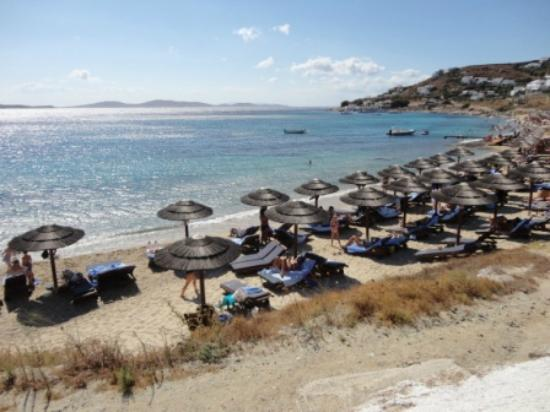 Mykonos Grand Hotel & Resort: the hotel private beach
