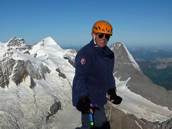 Grindelwald, Ελβετία: Auf dem Schreckhorn mit Eiger, Mönch und Jungfrau.
