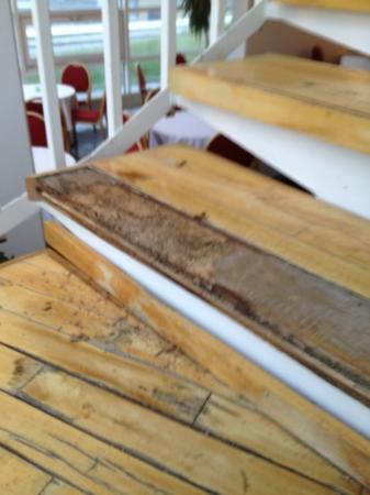 Hotel HirtsHals: fra trappa opp fra resepsjonen