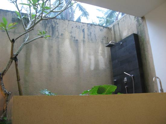Bayad Ubud Bali Villa: Partially outdoor shower