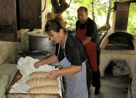 Bread & Cheese & Cretan Food : Bread making