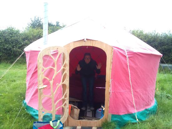 Summerhill Farm: The Budget Red Yurt