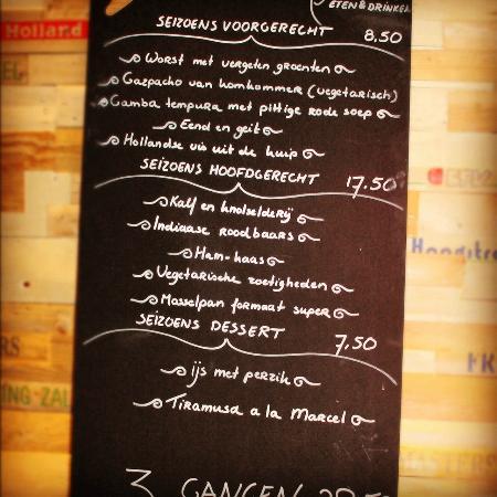 Rijksen Restaurant : Menu