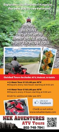 NEK Adventures ATV & Snowmobile Tours: Brochure back