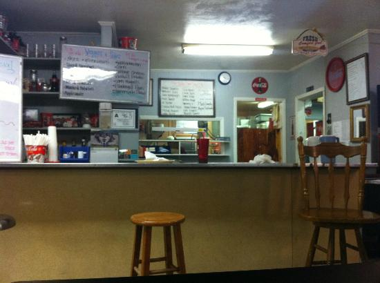 Deep Gap, Северная Каролина: Blue Ridge Diner counter