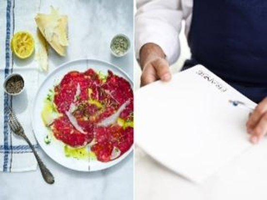 Franke Brasserie, Bar & Lounge: Beef carpaccio
