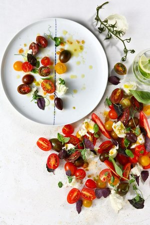 Franke Brasserie, Bar & Lounge: Colourful tomatoes
