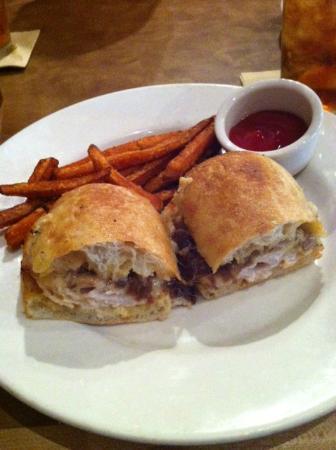 The Brick: Warm turkey sandwich with sweet potato fries