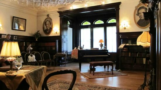 Ventfort Hall Mansion and Gilded Age Museum: Ventfort Hall library, setting for Clara, an original play about the life of Clara Schumann