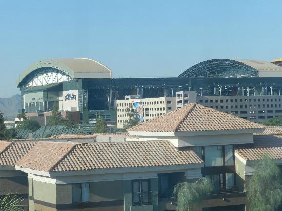 SpringHill Suites Phoenix Downtown: View from Hotel Room of Stadium
