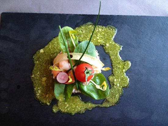 Domaine du Griffier : One of the starters from Menu du Chateau