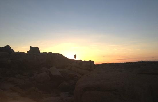 Jumbo Rocks Campground: the gorgeous sunset