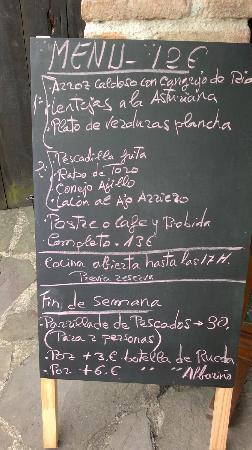 Via Carisa: Menú Vía Carisa