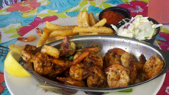 City Pier Restaurant: Blackened Shrimp w/two sides