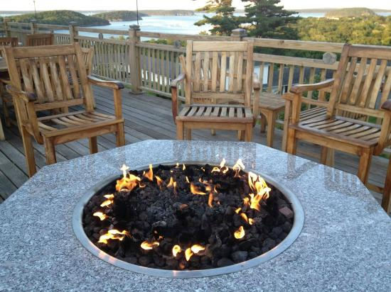 Bluenose Inn - A Bar Harbor Hotel: View from the deck at the Looking Glass Restaurant, Bluenose Inn, Bar Harbor