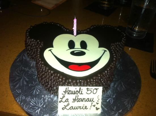 Fine My 50Th Birthday Cake At Ama Ama Picture Of Aulani A Disney Funny Birthday Cards Online Elaedamsfinfo