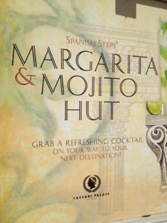 Spanish Steps Bar at Caesar's : marg and mojito hut!