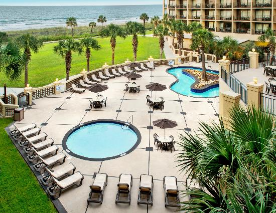 Springmaid Oceanfront Resort Myrtle Beach: Lazy River & Hot Tub