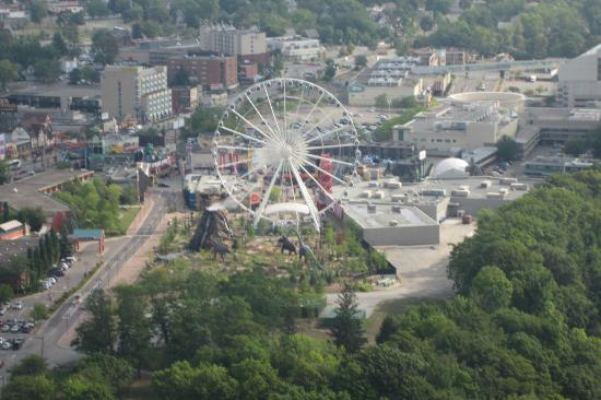 See Sight Tours of Niagara Falls- Day Tours : View from Skylon of Clifton Hill area