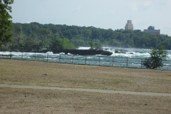 See Sight Tours of Niagara Falls- Day Tours: Old scow wrecked in 1918 just above Niagara Falls