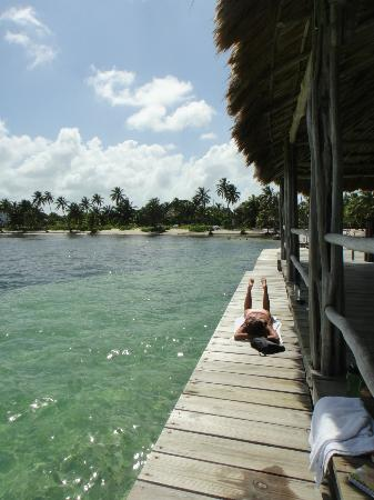 Ak'bol Yoga Retreat & Eco-Resort: Relaxing on the dock