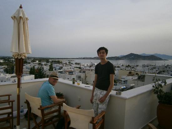 Rooftop terrace Oniro studios Naxos