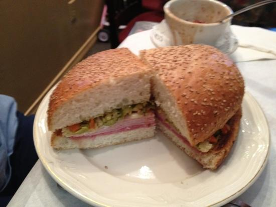 Frank's Restaurant: great muffuletta taste and bread help makes this one not to miss in NOLA , Mary's Bloody Mary i