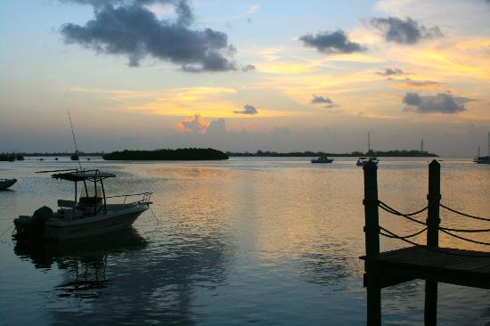Hyatt Beach House Resort: Sunset from the fishing pier