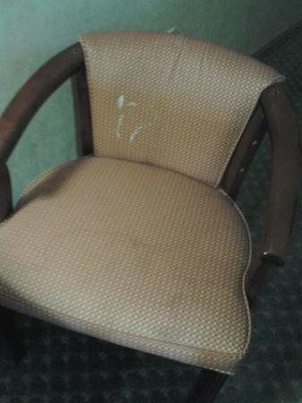 Comfort Suites South: YUCK! Disgusting chair in our room.