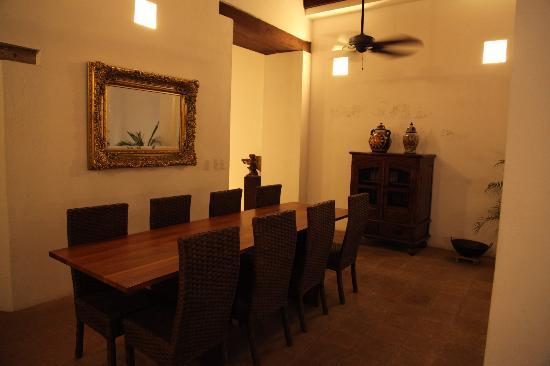 Dining area at La Casa del Agua