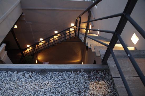 La Casa del Agua: Stairs ad La Casa del Farol