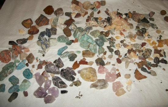 Elijah Mountain Gem Mine: The whole haul....