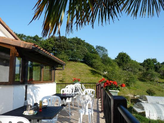 Agriturismo Itulazabal: terrasse du petit déjeuner et environs