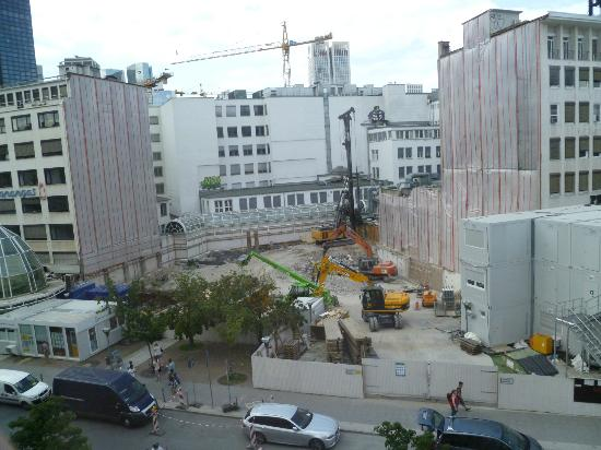 Hotel Zentrum: Construction site across the street