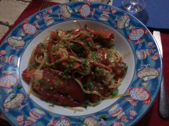 La Caletta, อิตาลี: bavette all'astice