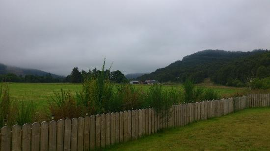 The Slaters Arms: View from cabin at Slaters Arms