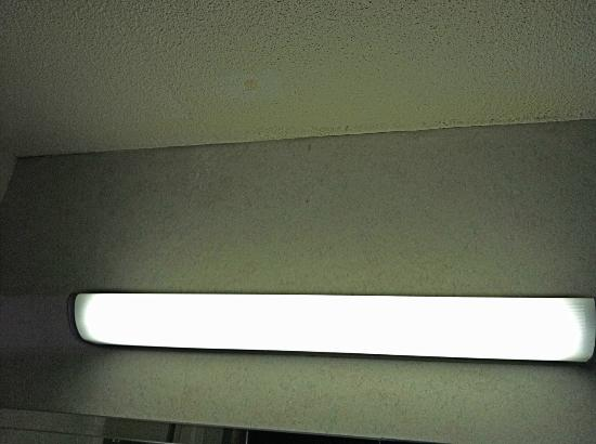 Ramada Roanoke: bathroom light fixture