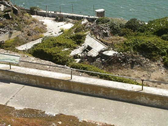 Alcatraz Island: staff housing area where children of guards played