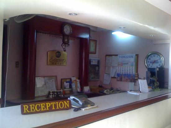 Evergreen Hotel: evergreen reception area