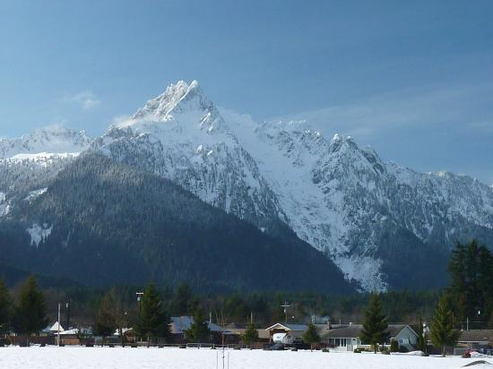 Whitehorse Mountain as seen from Darrington, Washington